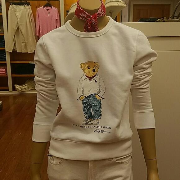3930740f45039 Ralph Lauren Polo bear crew neck sweatshirt